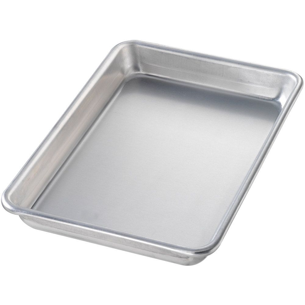 Chicago Metallic 41805 Eighth Size 16 Gauge Glazed Aluminum Sheet Pan Curled Rim No Wire 6 1 2 X 9 1 2 Chicago Metallic Aluminium Sheet Sheet Pan