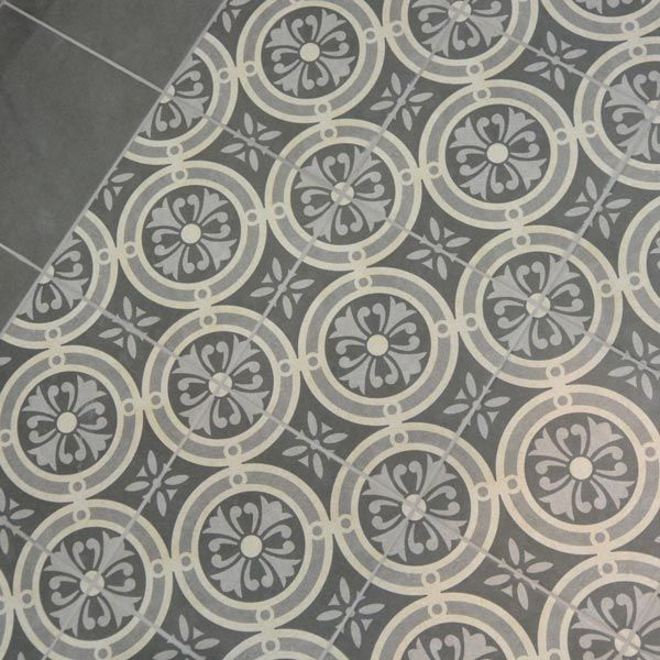 Good 25x25cm Vintage Grey Classic Floor Tile