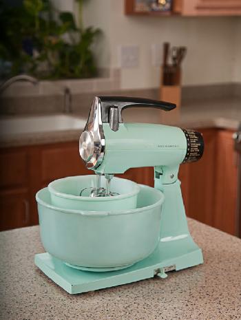 painted vintage sunbeam mixmaster stand mixer happy kitchen