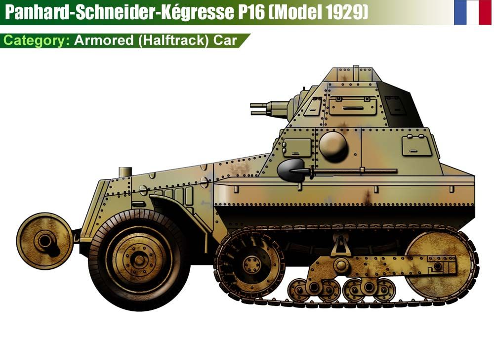 AMR Panhard-Schneider-Kégresse P 16 (mle 1929) | WW II FRANCE ...