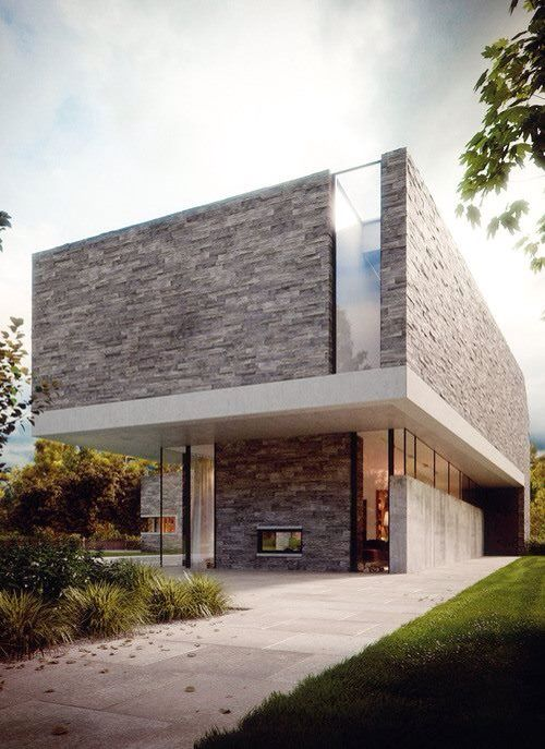 Stone fa ade architecture pinterest fa ades maisons for Maison moderne 64