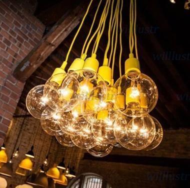 Art Decor Silicone E27 Pendant Lamp Ceiling Light Bulb Holder