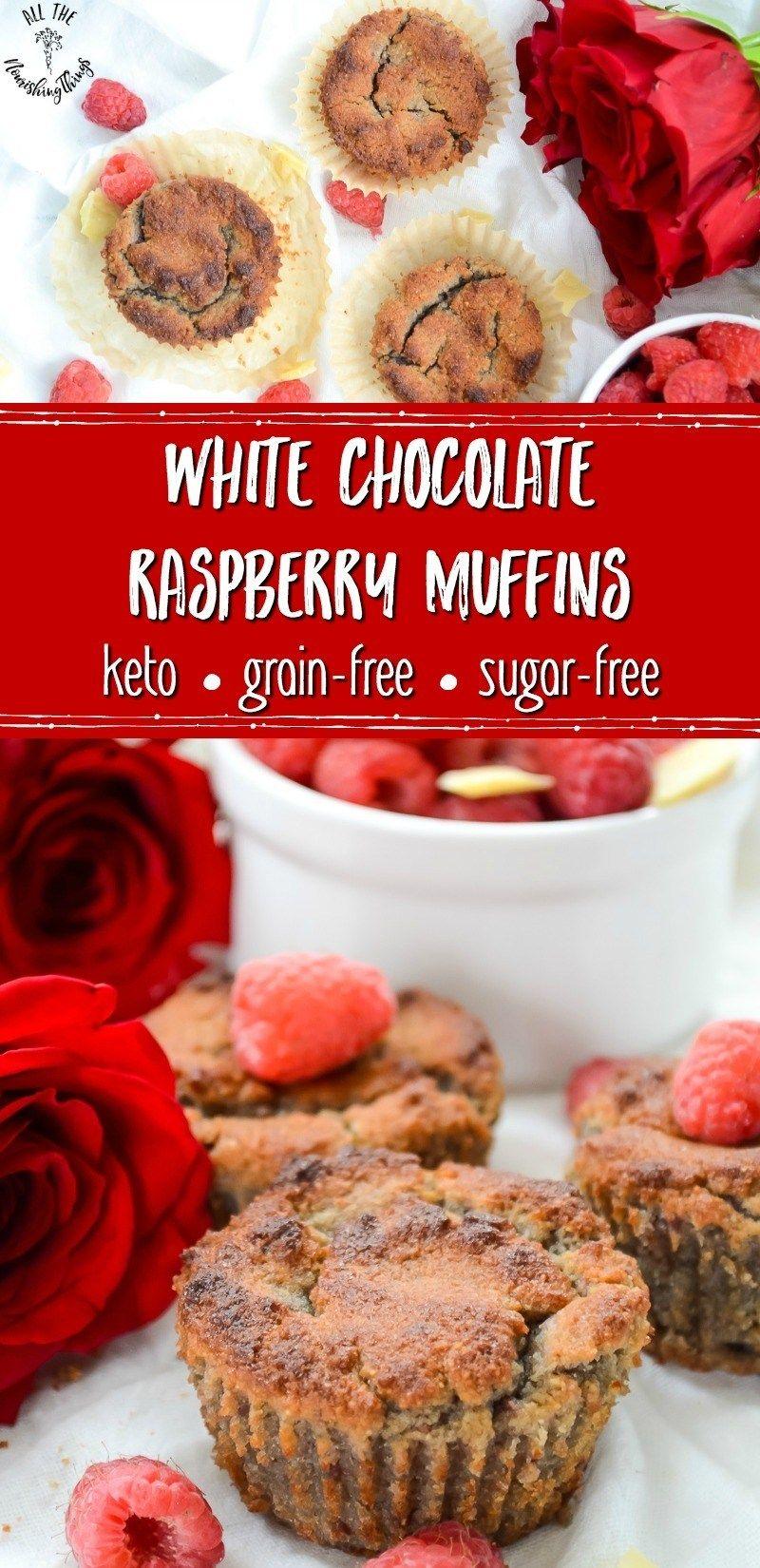 Keto White Chocolate Raspberry Muffins Recipe Raspberry
