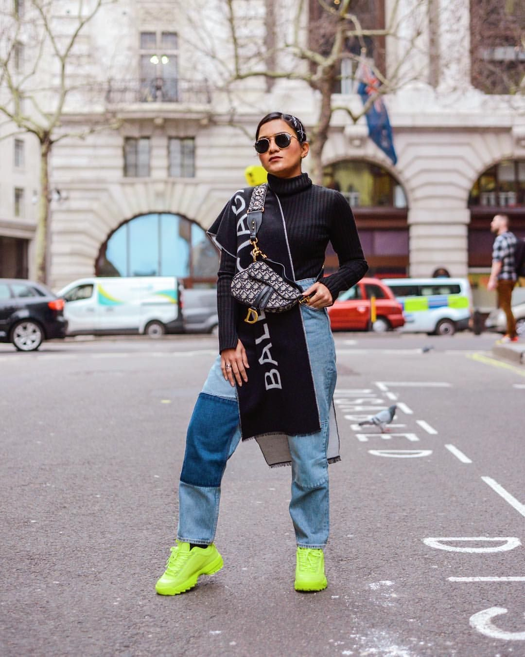A laid back look with statement accessories lfw