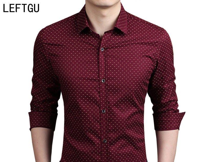 2018 New Autumn Fashion Brand Men Clothes Slim Fit Men Long Sleeve Shirt Men Polka Dot Casual Men Shirt Social Plus Size M-5xl Men's Clothing
