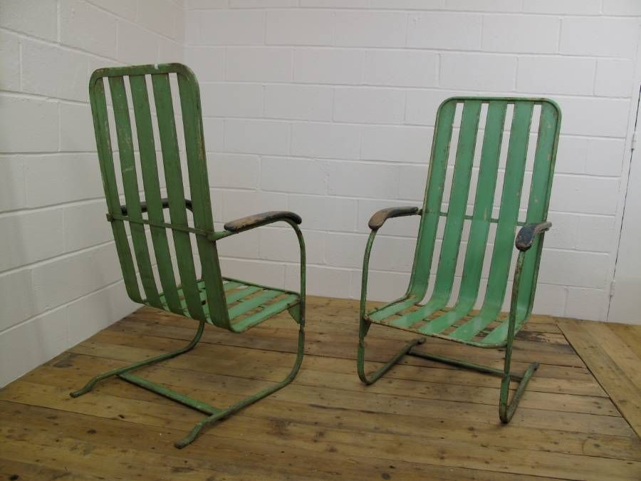 French Antique Metal Garden Chairs - French Antique Metal Garden Chairs GARDEN FURNITURE Pinterest