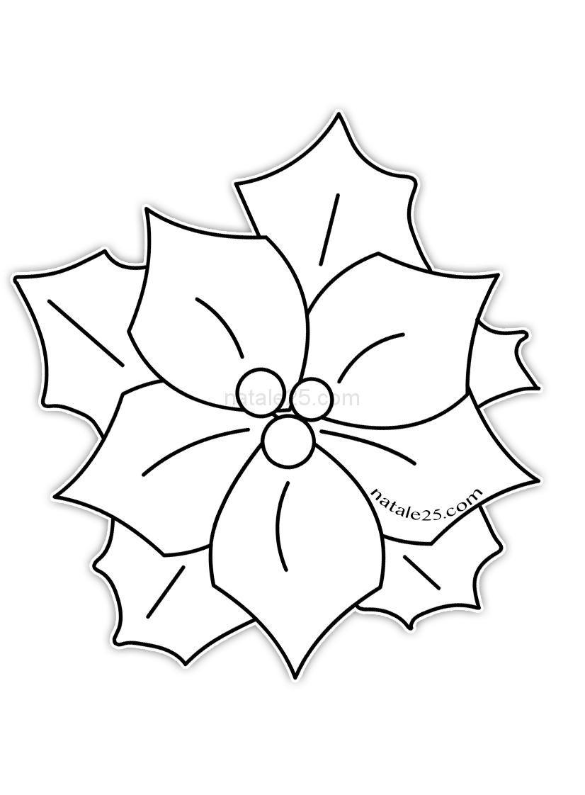 Stella Di Natale Da Colorare.Risultati Immagini Per Stella Di Natale Da Colorare Ghirlande