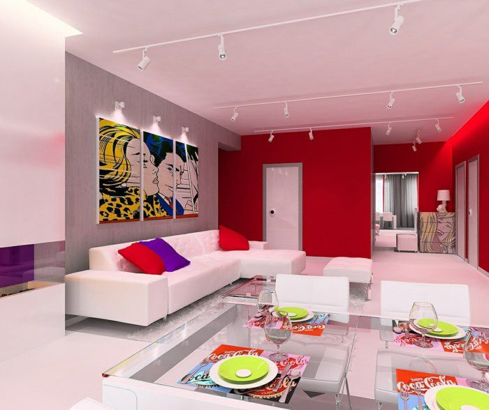 k chendeko 22 tolle ideen f r deko im pop art stil pinterest k chendekoration. Black Bedroom Furniture Sets. Home Design Ideas