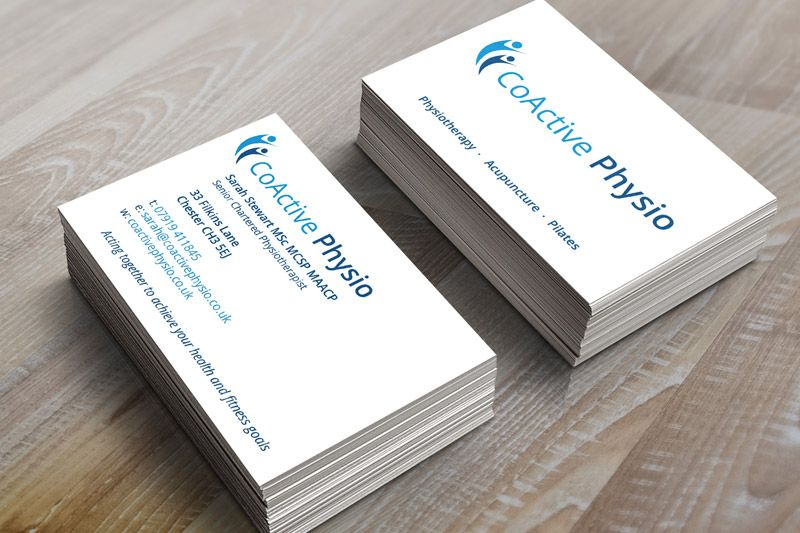 Coactive Physio Webmonkey Design Chester Visiting Cards Business Card Design Card Design