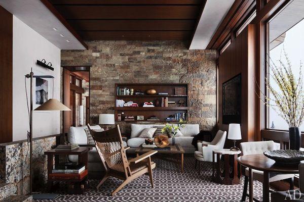 Mid Century Modern Rustic Living Room mountain home | mid century style, rustic decor and mid century