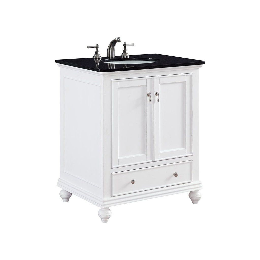 Otto 30 X 35 1 Drawer 2 Door Vanity Cabinet White Finish Vf 1023 Elegant Decor Single Bathroom Vanity Vanity Cabinet