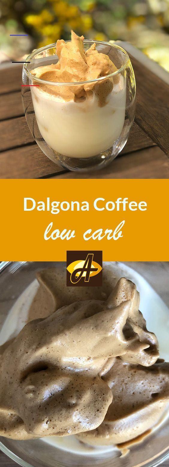 Rezept Dalgona Coffee Kaffee zuckerfrei lowcarb