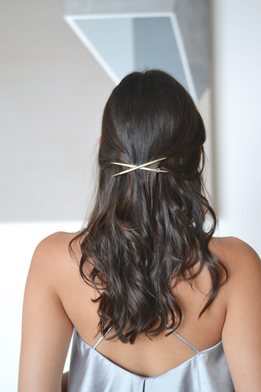 coupon de réduction original recherche d'officiel Barrette, peigne, pince, clip or doré x minimaliste mariage ...