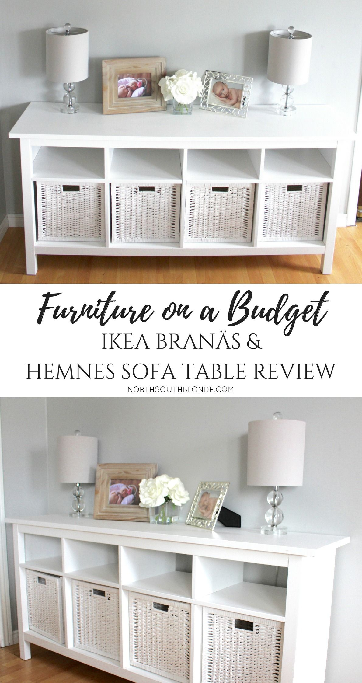 Hemnes Wohnzimmer Ideen Furniture On A Budget Ikea BranÄs And Hemnes Sofa Table