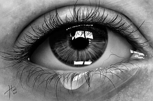 Watery Eyes Drawing Realistic Pencil Drawings Realistic Eye