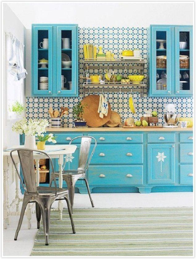 Cuisine Bleu Ciel Cuisine Pinterest Salons Kitchens And Room