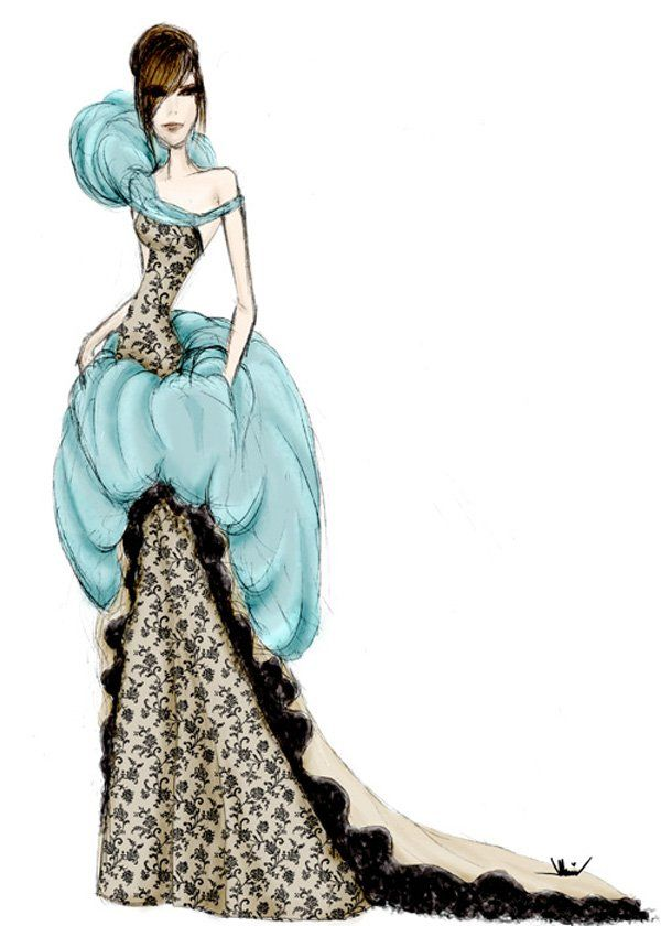 50 Amazing Fashion Sketches | Fashion sketches, Fashion ...