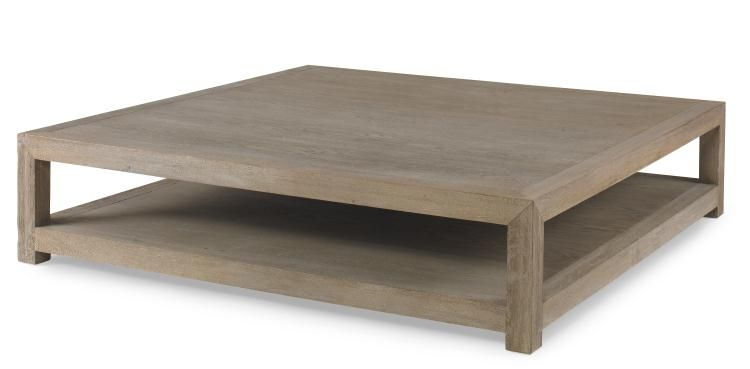 Large Square Napa Coffee Table With Bottom Shelf Also Available As Long Oak Console 60x60