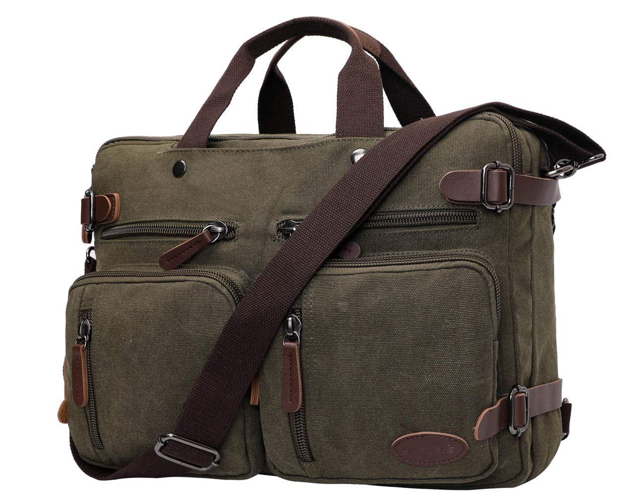 Bag for Work Gray Leather Laptop Case Mens Gift Unisex Briefcase Satchel Briefcase Handbag Bag for School 13 Inch Leather Laptop Bag