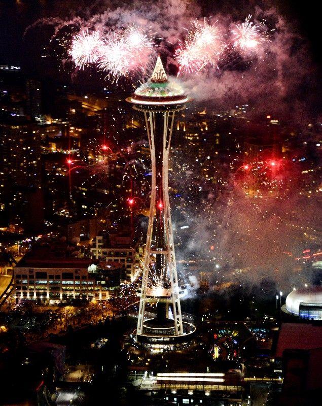 happy new year 2013 space needle seattle washington