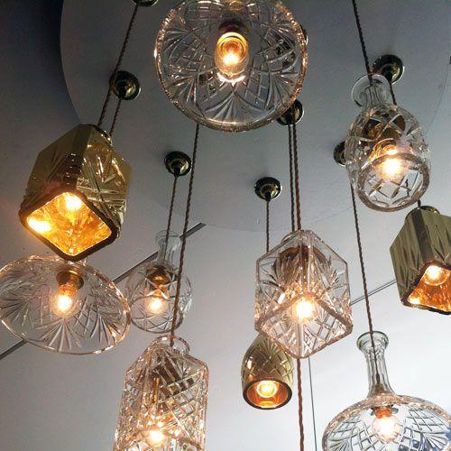 lights objets detournes pinterest luminaires lampes et lumi res. Black Bedroom Furniture Sets. Home Design Ideas