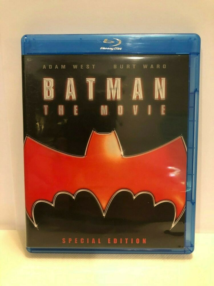 Batman The Movie Blu Ray Disc 1966 Adam West Burt Ward Ebay