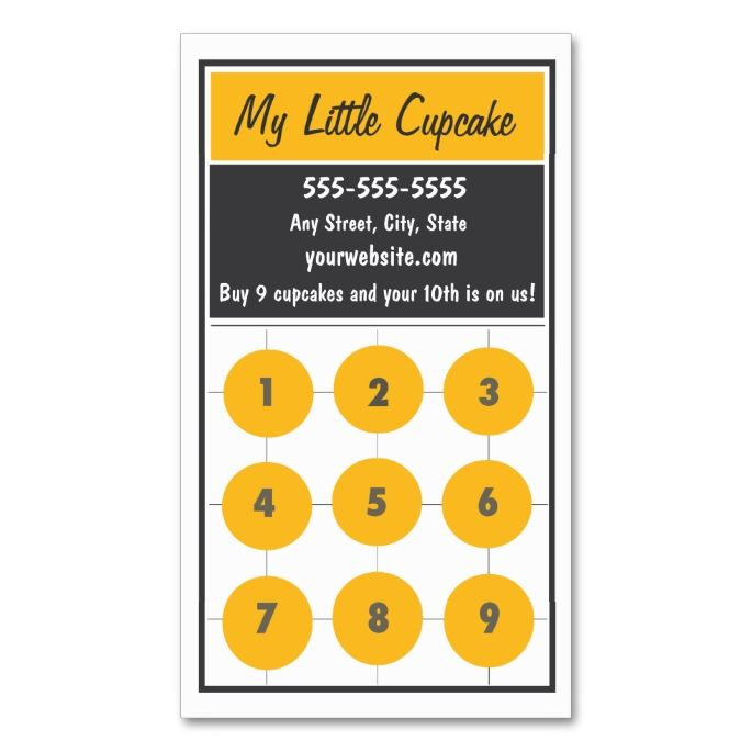 Cupcake loyalty business card punch card business cards business cupcake loyalty business card punch card colourmoves Choice Image
