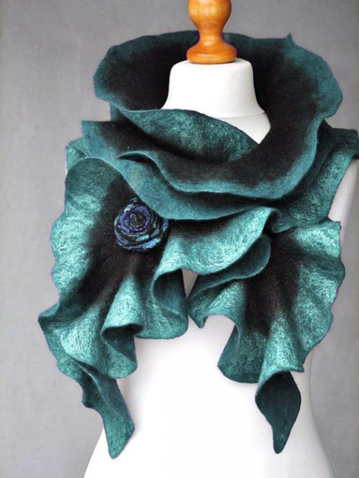 Blue Casual Cotton Blend Ombre Tie Dye Scarves Shawls In 2020 Tie Dye Scarves Tie Dye Scarf Shawl