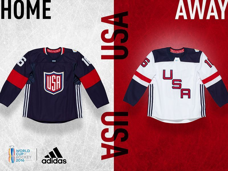 Jerseys Unveiled For The World Cup Of Hockey Hockey World Cup Usa Hockey Jersey Hockey Jersey