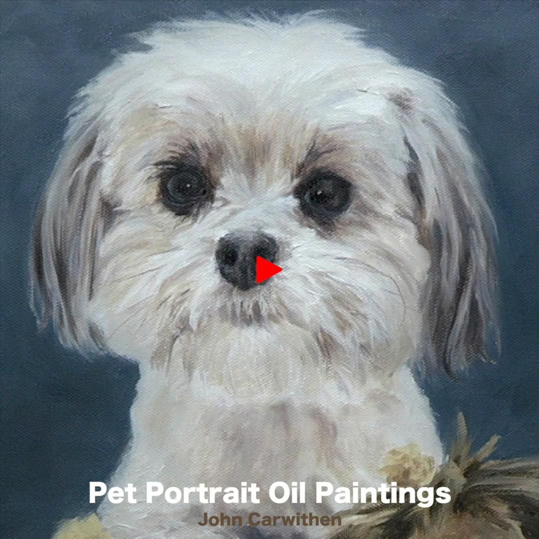 Etsy dog portrait oil painting commission