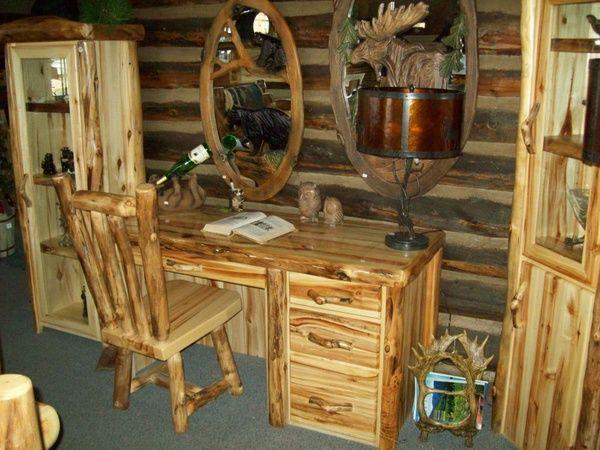 Desks And Office Furniture Williams Log Cabin Furniture Colorado