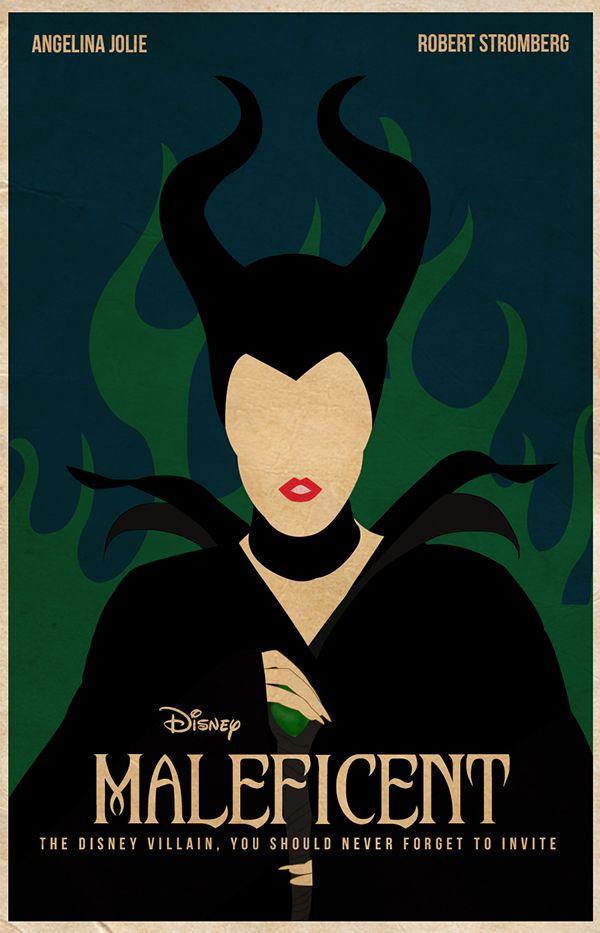 Minimal Maleficent Movie Poster By Hamza Fihmak Via Behance