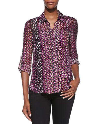 25098443 Women's Blouses at Neiman Marcus. T8SMA Diane von Furstenberg Lorelei Two Printed  Button-Down Blouse