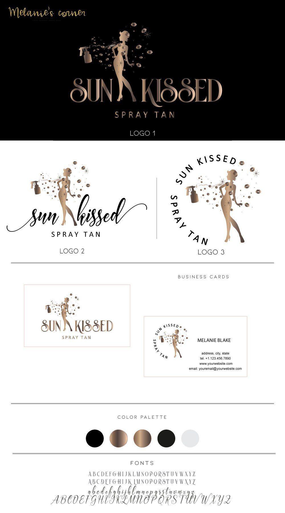 Spray Tan Logo Mobile Tanning Logo 350 Etsy Spray Tan Business Mobile Tanning Spray Tanning