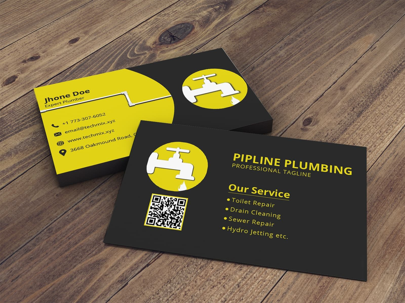 Plumber Business Card Design Template Business Card Template Design Business Card Design Business Card Design Creative