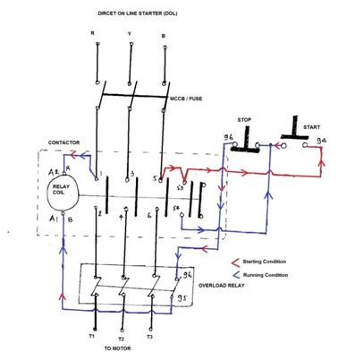 [DIAGRAM] Control Wiring Diagram Of Dol Starter