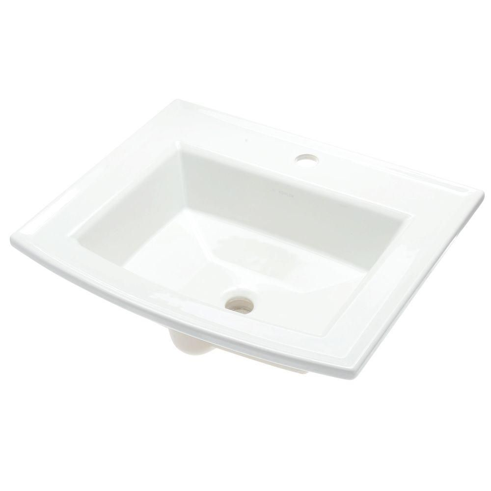 Glacier Bay Aragon Self Drop In Bathroom Sink White 13 0012 4whd The Home Depot