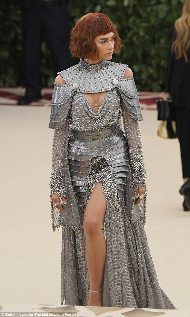 channels Joan Of Arc in chainmail and armor gown at Met Gala Zendaya channels Joan Of Arc in chainmail and armor Versace gown and bobbed auburn wig at Met Gala | Daily Mail OnlineZendaya channels Joan Of Arc in chainmail and armor Versace gown and bobbed auburn wig at Met Gala | Daily Mail Online