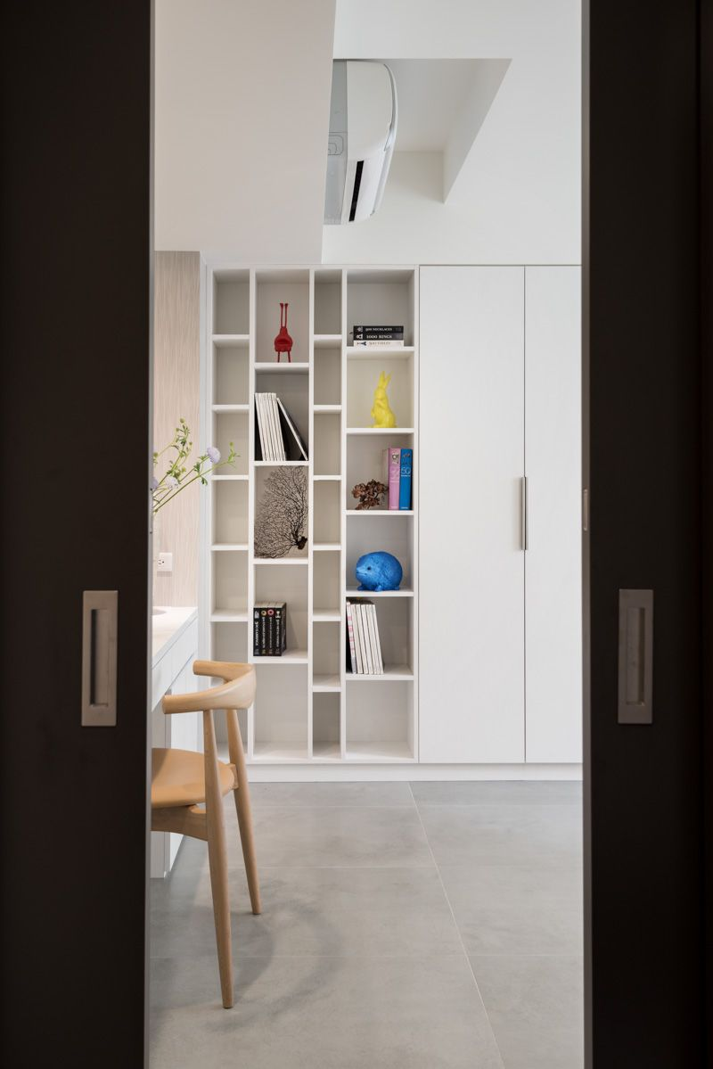 luna interior design taipei fs house residential bookshelves ideas small spaces White Bookshelves
