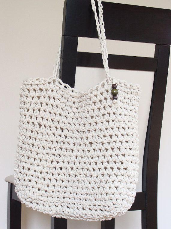 Crochet cotton tote bag yarn … | Hæklede tasker / crochet bags ...