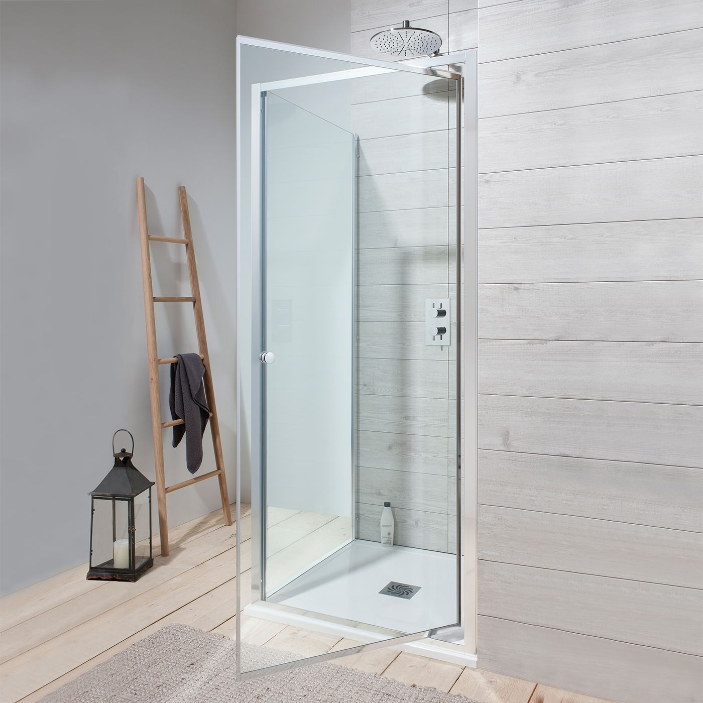 Pivot shower doors are space-saving heroes as they pivot on a side ...