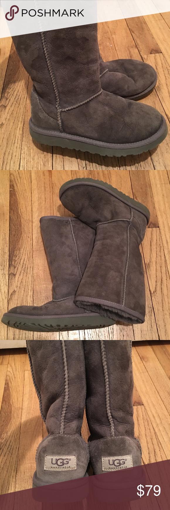 ce95520c7db Uggs Kids Classic Tall Boots Grey Kids tall grey ugg boots, size 2 ...