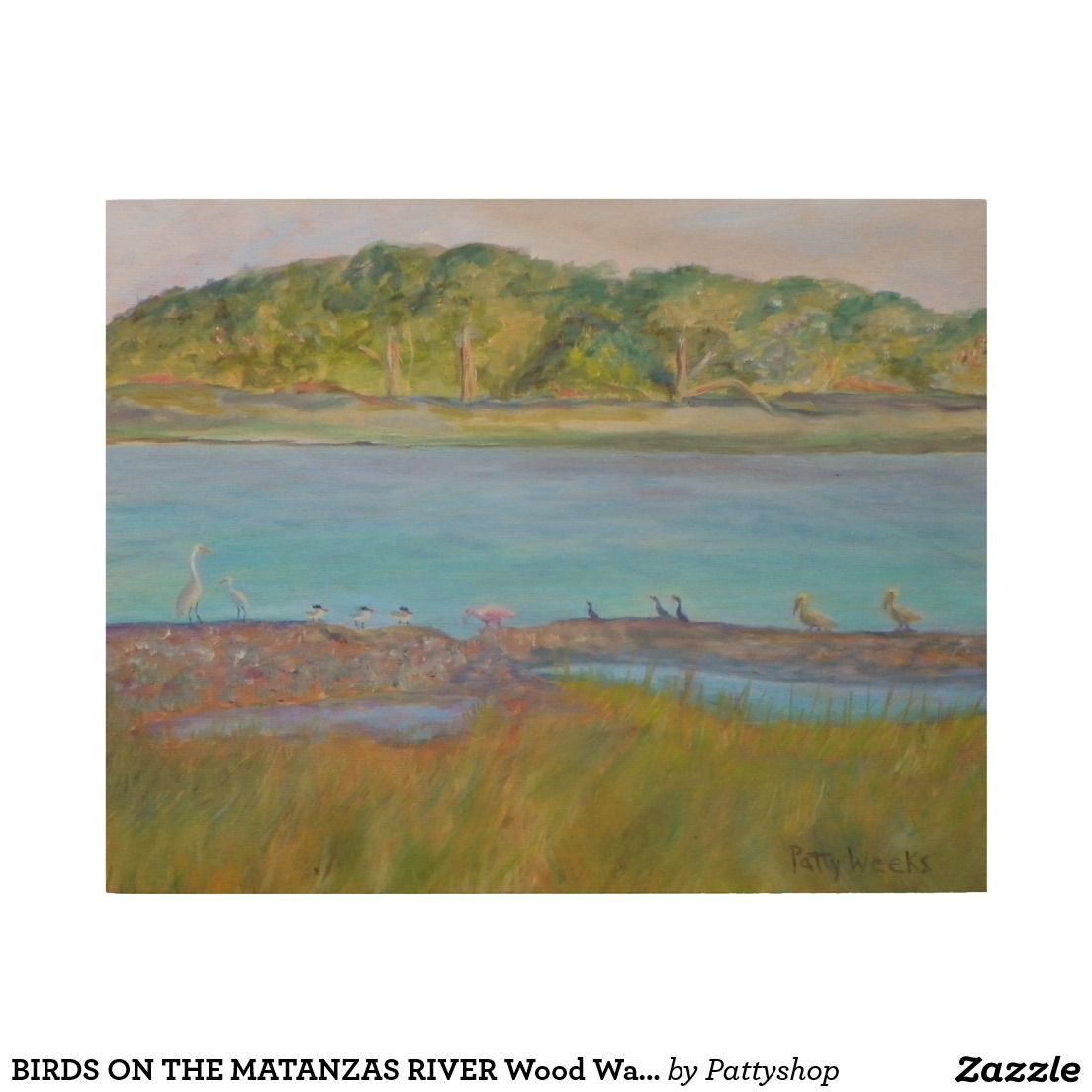 BIRDS ON THE MATANZAS RIVER Wood Wall Art
