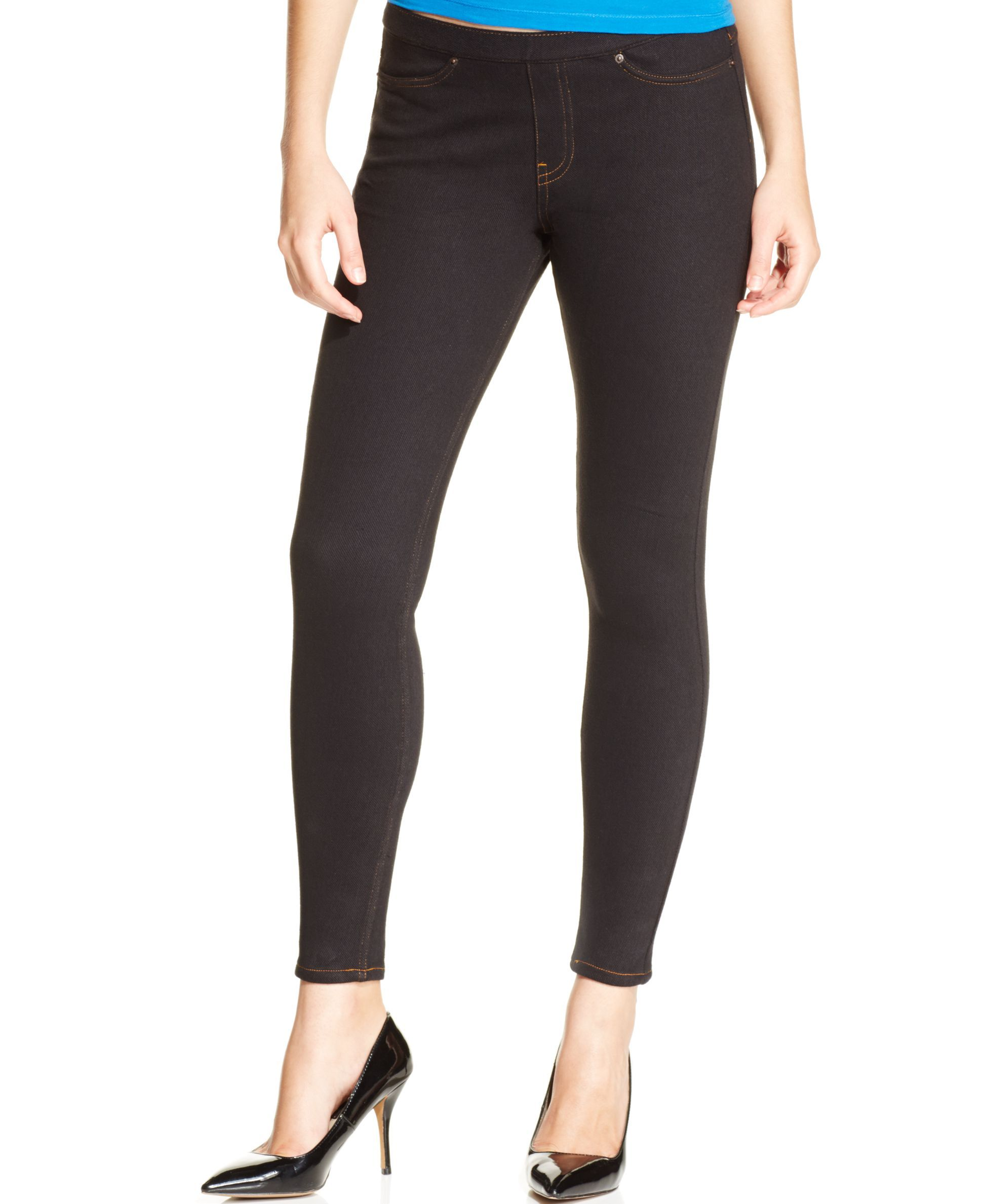 HUE Women/'s Essential Denim Jean Capri Leggings A Choose SZ//color