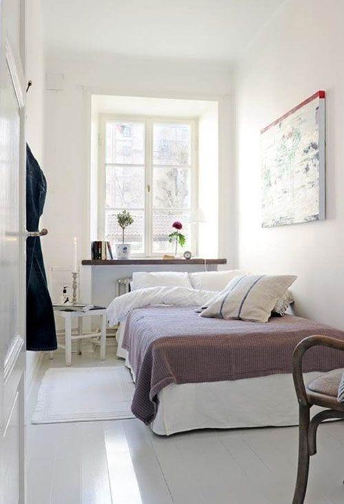 Kleine slaapkamer inrichten  Interieur inrichting  Slaapkamer  Pinterest  Small rooms ...