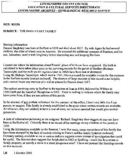 Letter from Lincolnshire County Council re: Richard Singletary provided by LLoyd Dunham, p. 3
