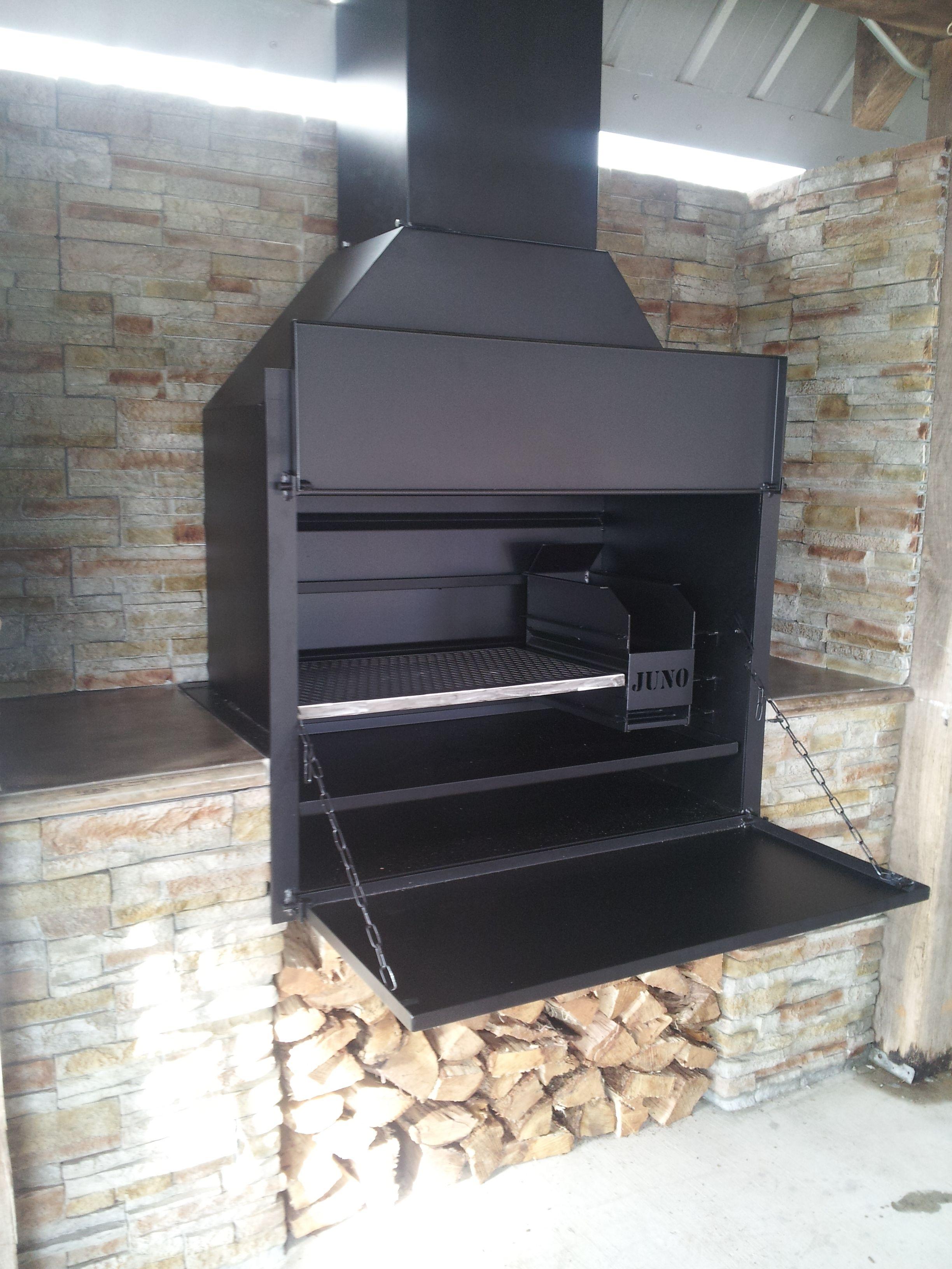 Juno Grill and fireplace  Outdoor küche, Garten grillen, Garten küche