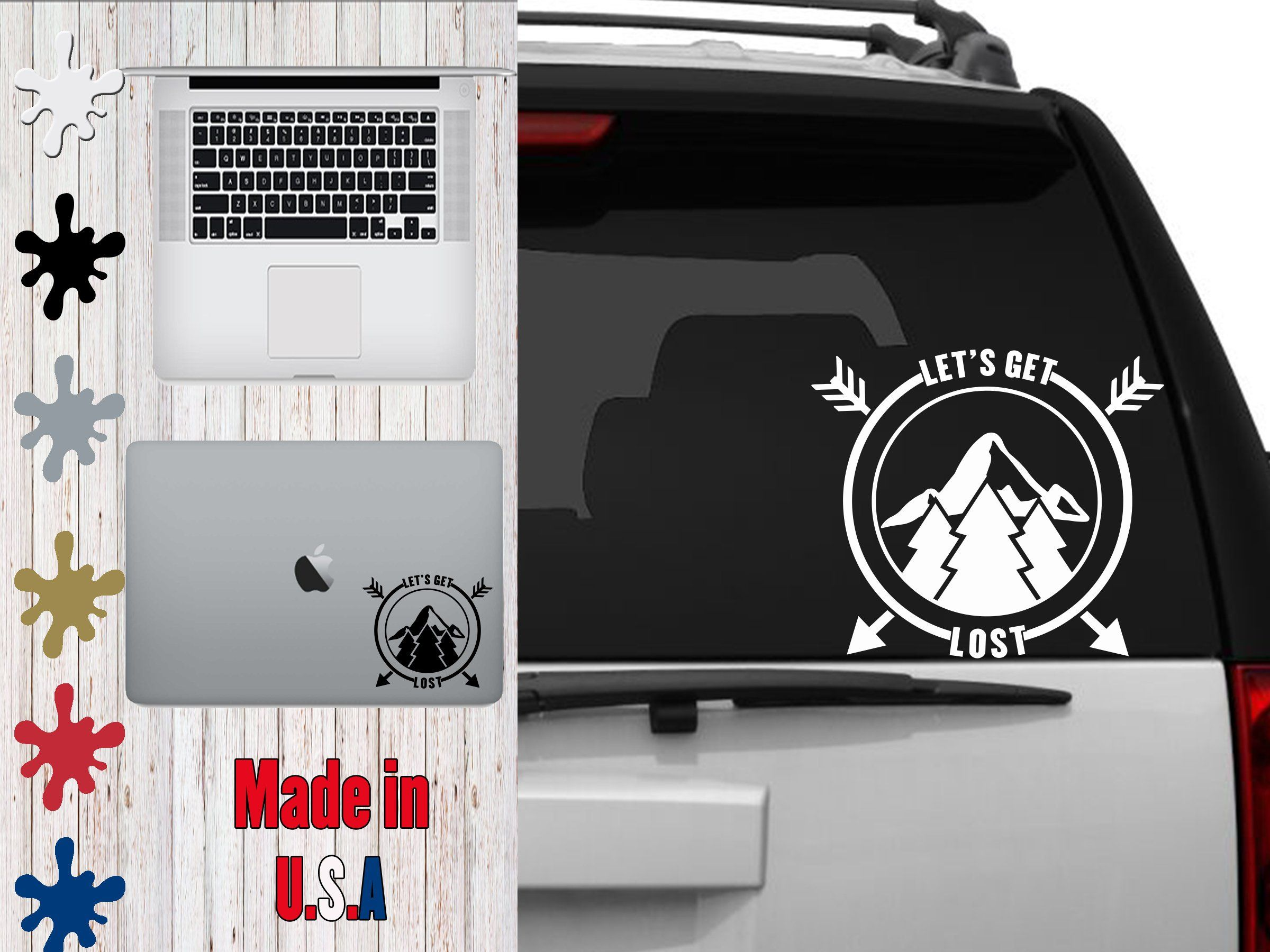 Let S Get Lost Car Decal Choose Your Size Car Decal Laptop Decal Mug Decal Tumbler Decal Cup Decal Phone Decal By Phone Decals Tumbler Decal Cup Decal [ 1800 x 2400 Pixel ]