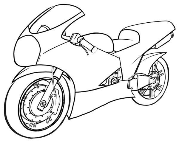 How To Draw Vehicles Motorcycles Bike Drawing Bike Drawing