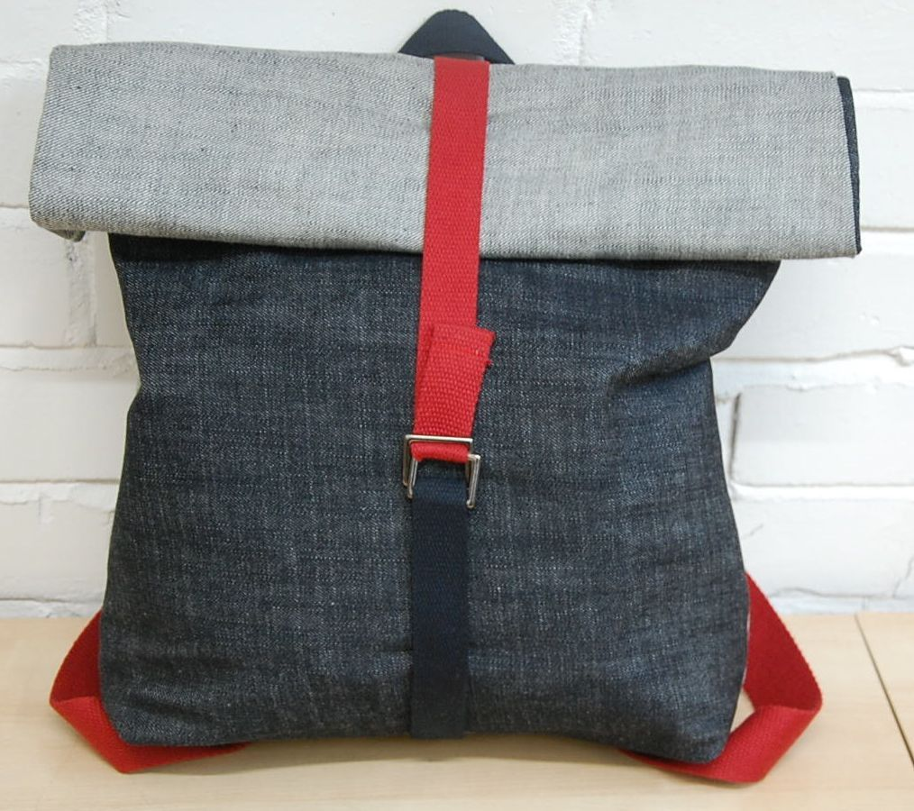fc3762d4665 The Eternal Maker Crafts  Denim Roll Top Backpack Tutorial Diy Backpack,  Diy Tote Bag